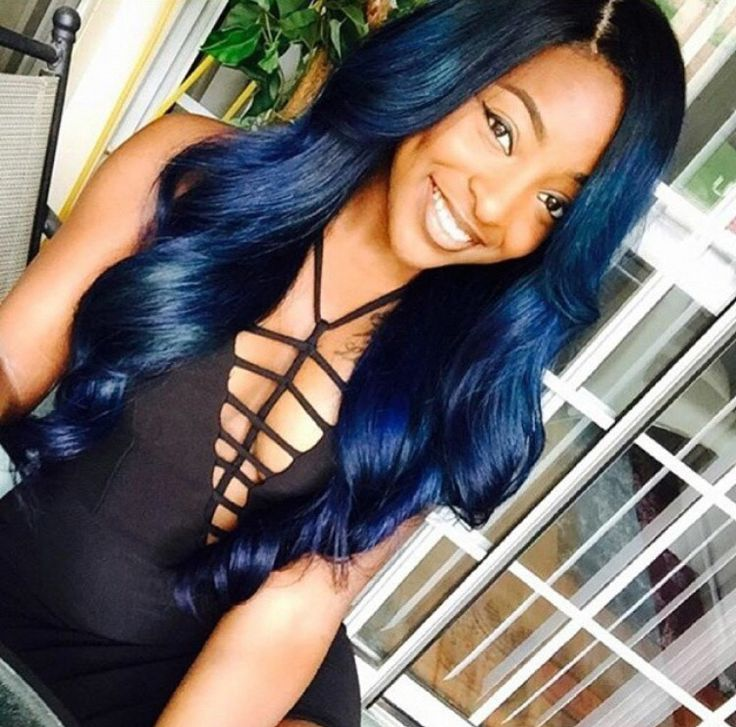 17 Best Images About Navy Blue Hair Color On Pinterest