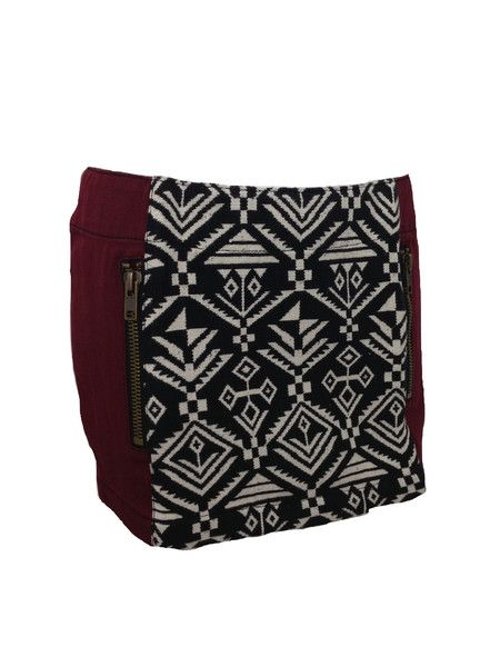 Indian Tapestry Denim Mini, $108