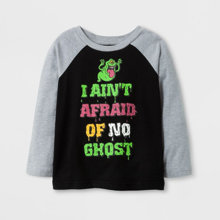 Ghostbusters Toddler Boys' 'I Ain't Afraid OF NO Ghost' Long Sleeve Halloween T-Shirt - Black 3T