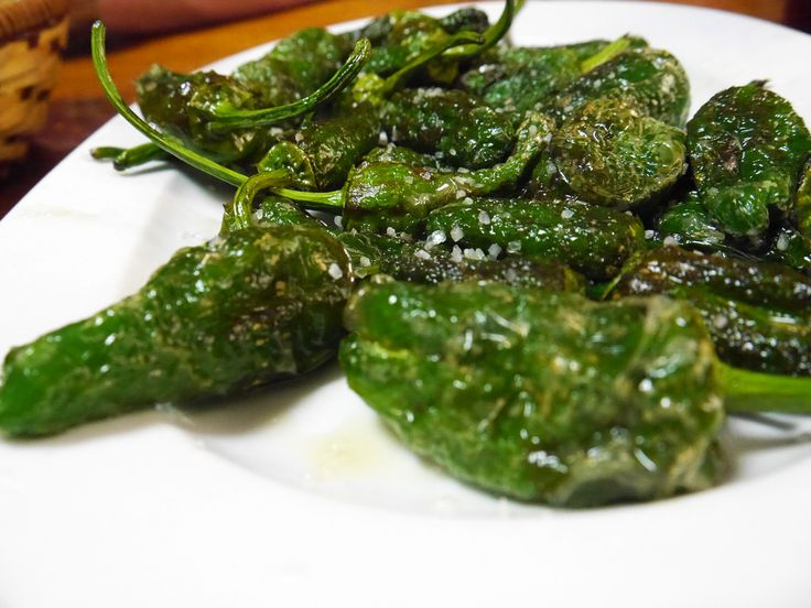 A plate of fried peppers - Our Vegetarian View of the Madrid Food Tour