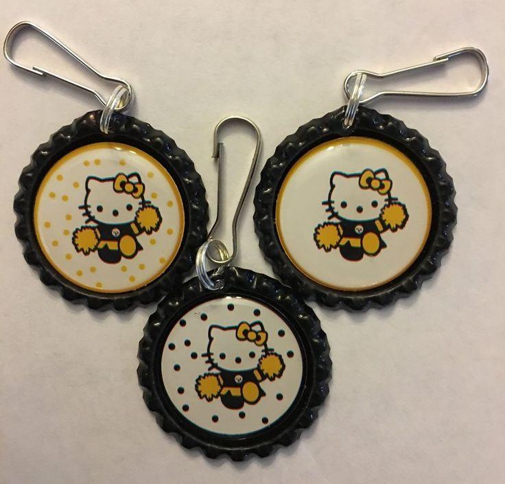 Pittsburgh Steelers Hello Kitty Cheerleader Inspired Zipper Pull keychain clip | Sports Mem, Cards & Fan Shop, Fan Apparel & Souvenirs, Football-NFL | eBay!