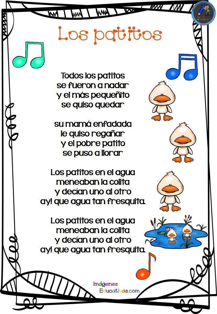 Las Canciones De La Granja Para Infantil Letras De Canciones Infantiles Canciones Cortas Para Niños Canciones Infantiles