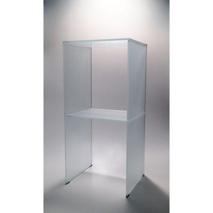 glazentafel.com | Glazen bijzettafel Montréal op maat  | GT series Safety glass | Vierkante glazen bijzettafel in extra helder satijn glas voorzien van een tussenplank.