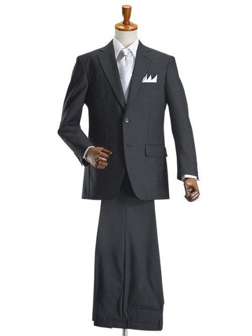 2ツボタン シングル フォーマルスーツ アジャスター付(ブラックスーツ 礼服 喪服 セレモニースーツ) #フォーマル #メンズファッション