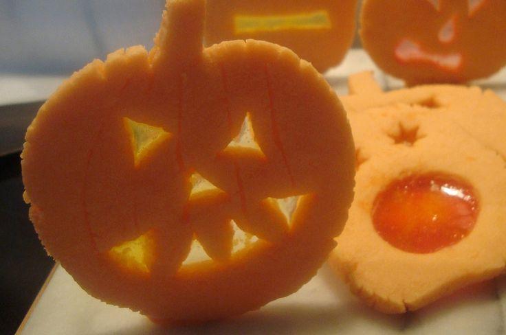 Halloween Jack O' Lantern Cookies