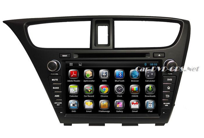 Android Head Unit Car DVD Player for Honda Civic 2014 with GPS Navigation Radio BT TV DVR Stereo 3G WIFI