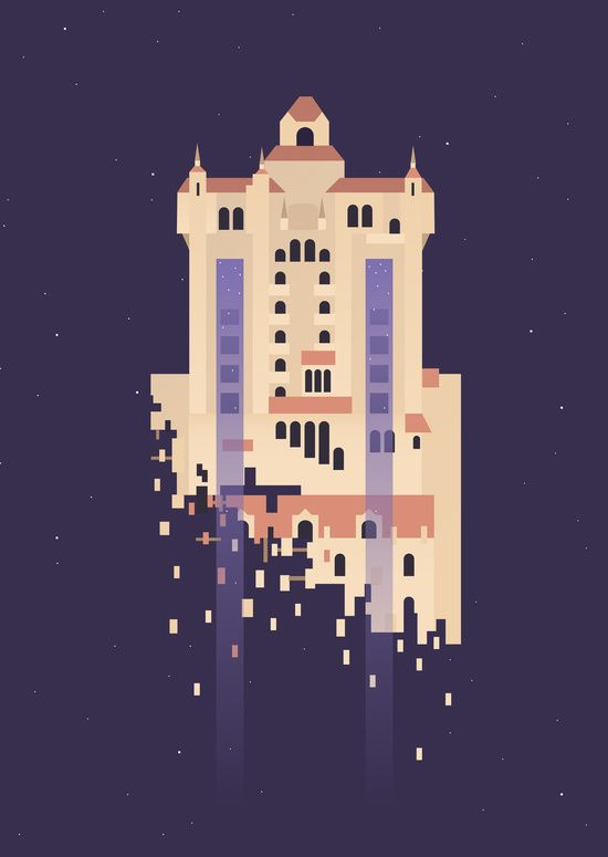 Tower of Terror art by Rob Yeo available in tons of different print sizes and as a phone case!
