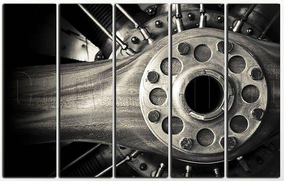 Airplane Aircraft Turbine Turbofan Engine Propeller Diptych