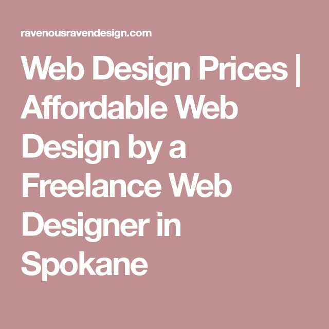 Web Design Prices | Affordable Web Design by a Freelance Web Designer in Spokane