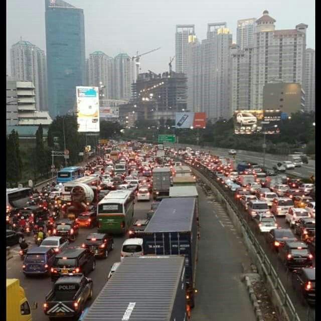 Jakarta traffic. Indonesia