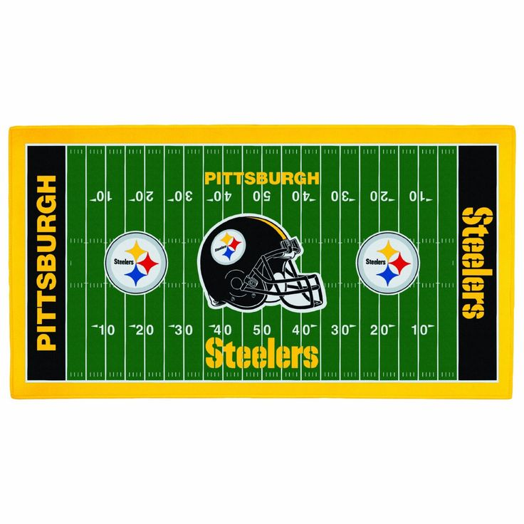 Amazon.com : NFL Pittsburgh Steelers 28 x 52-Inch Floor Mat : Nfl Pitsburg Steeler Floor Mat : Sports & Outdoors