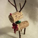 wine cork deer- I would add a red nose for Rudolph!
