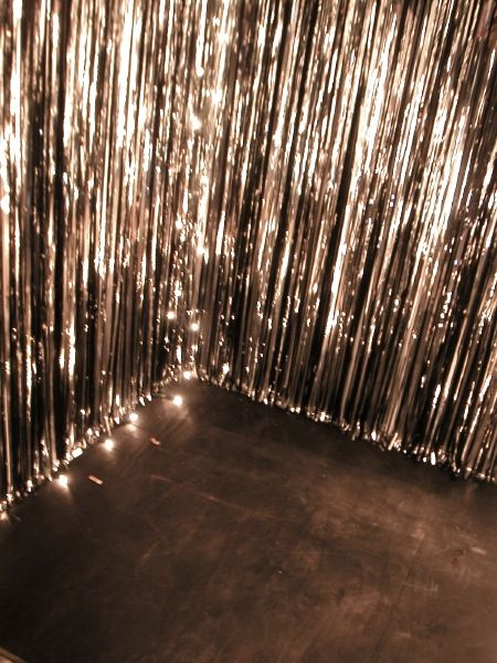 A little sparkle goes a long way. Sparkle wall at corner of dance floor or near your entrance - big impact at a discoparty rhs