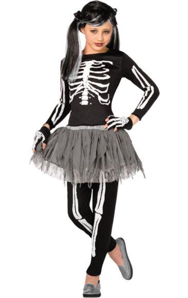 Child Girl Skeleton Costume | Jokers Masquerade