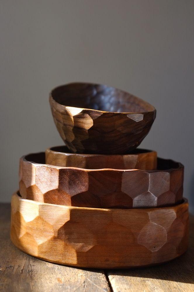 Set of hand carved wooden bowls                                                                                                                                                                                 More