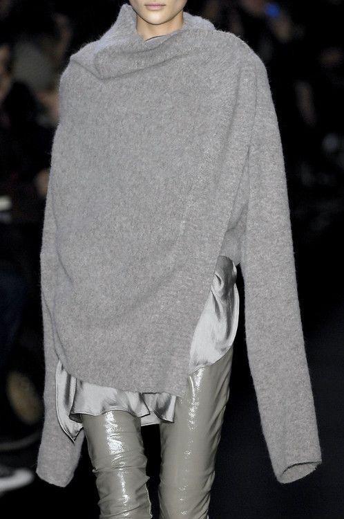glossy, grey// Haider Ackermann FW 2007