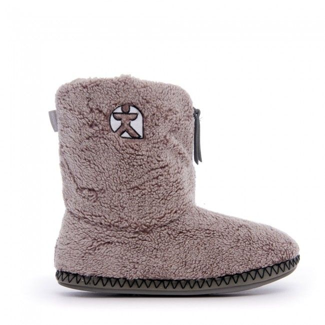 Crowe  Snow Tipped Sherpa Slipper Boots  Washed Cool Grey  Slipper  BootsAthletics