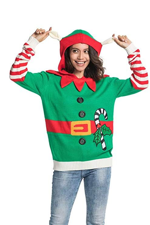 d7089981f7c  Hoodie Range Unisex Women s Ugly  Christmas Sweater Funny Knitted Pullover  - Xmas Tree Santa Reindeer