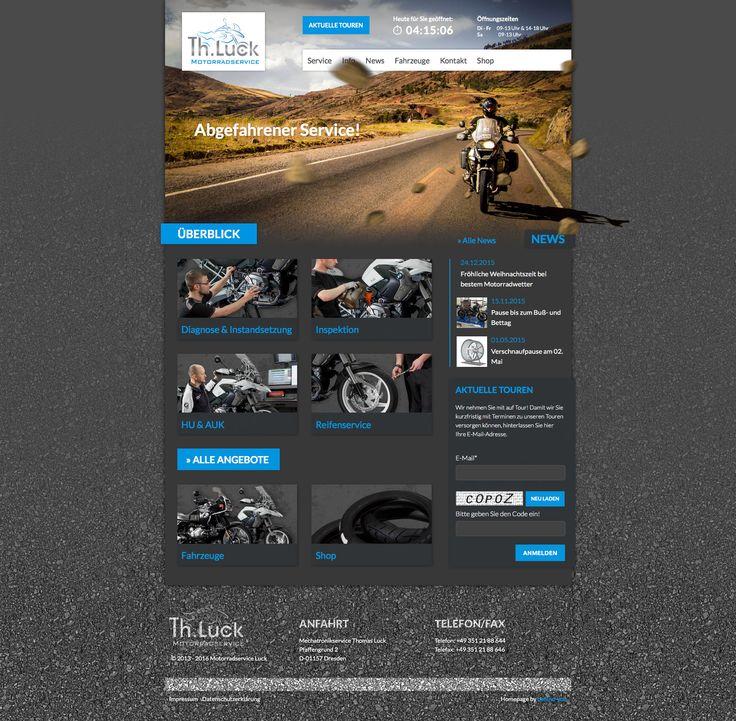 #screendesign #webdesign mit #parallax Effekt - #website Motorradservice Thomas Luck  www.motorrad-luck.de