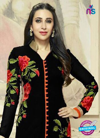 The patiala salwar kameez with heavy hand work on the front and thread embroidery on the borders (Ghera) looks amazing and beautiful.