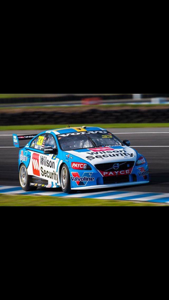 Scott McLaughlin in his V8 Volvo S60 wins everything (2 Poles and 2 Race wins) at Phillip Island - April  2016
