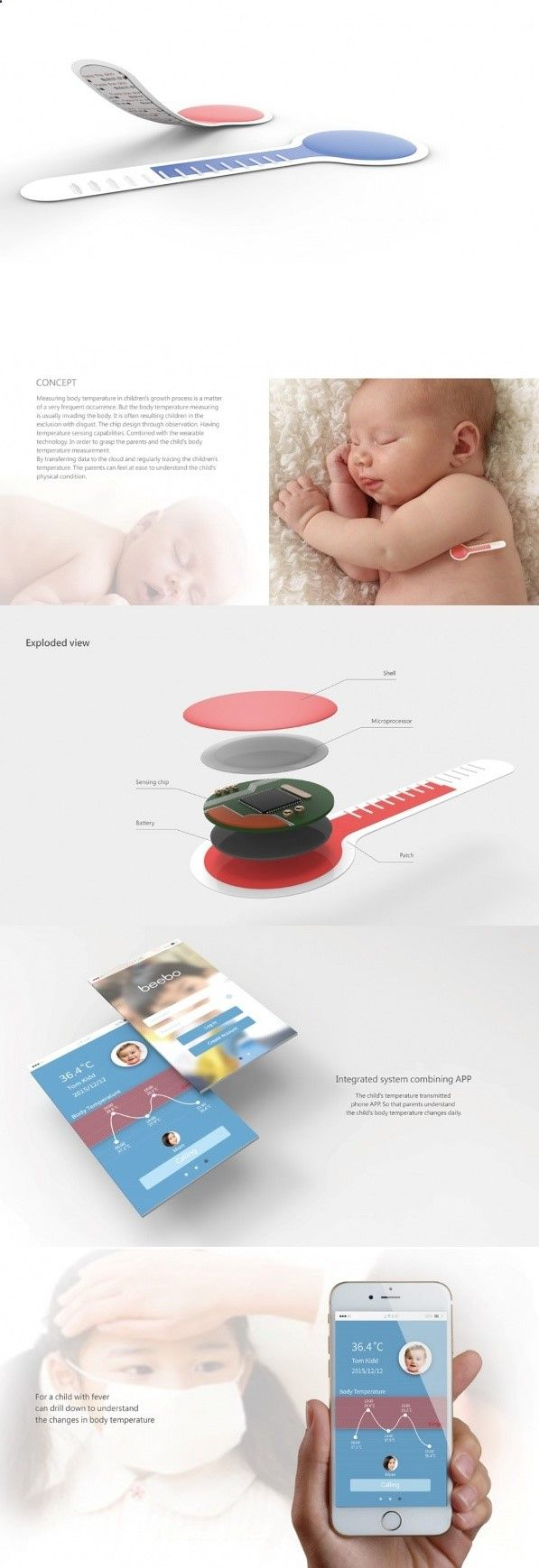 Sweet Sensing is a thermometer that means business. Not only is it a visual thermometer, it also syncs with the internet to update you with the latest temperature readings. #Technology #YankoDesign #Product #Design