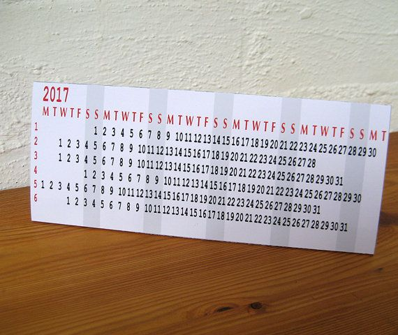 2017 Desk Calendar  Printable PDF Instant by paper4download