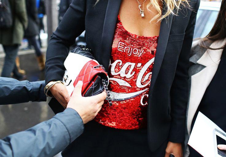 Ashish top,Chanel bag