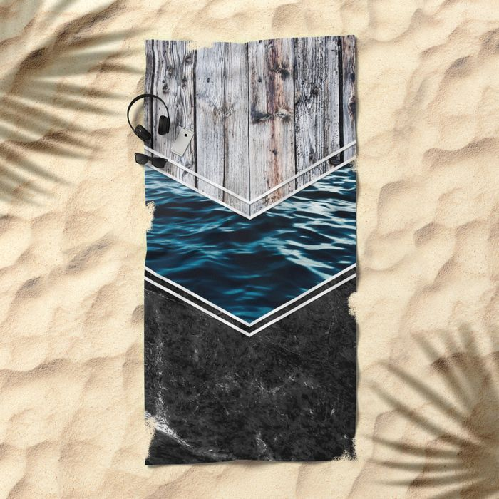 #wood #wooden #marble #stone #sea #ocean #stripe #stripes #striped #nature #texture #beach #towel