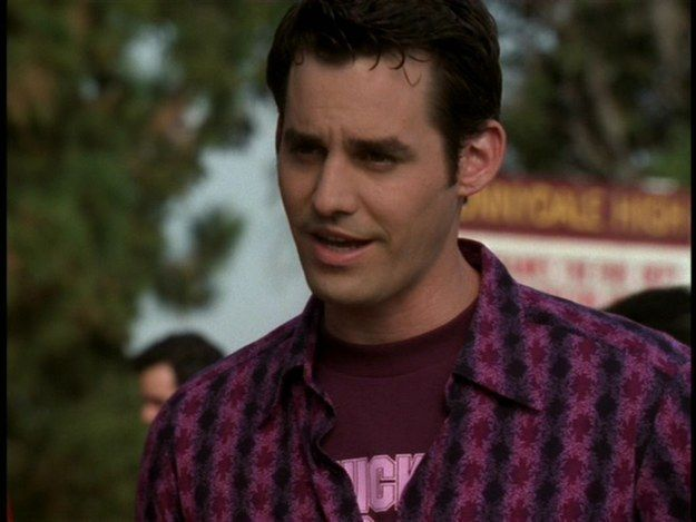 When Xander showed us that Maroon and Purple can work as layers if you dream hard enough. | Community Post: 15 Times Xander Harris Owned '90s Fashion