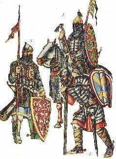 Основным оружием профессионального воина Древней Руси – дружинника был меч, как было сказано выше. Массовым же оружием, которым вооружался в бою рядовой воин, было копье и топор, лук и стрелы.
