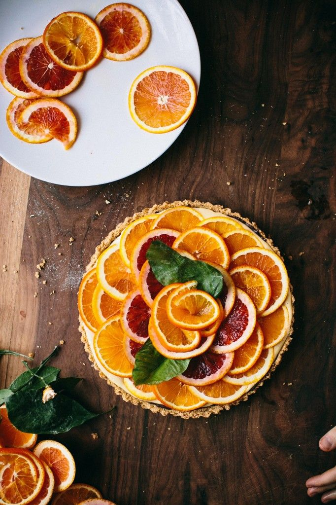 Late Winter Chocolate and Orange Tart