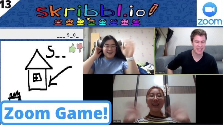Zoom Game Skribblio Online Pictionary Video Chat