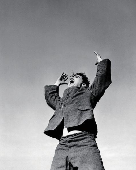 Charlie Chaplin, pendant le tournage du Dictateur.