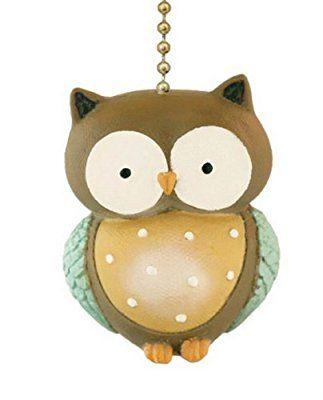 Little Hoot Owl Ceiling Fan Pull Light Chain-Home Decor