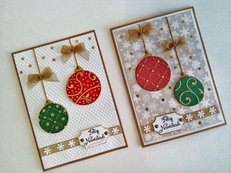 como realizar tarjetas navideas