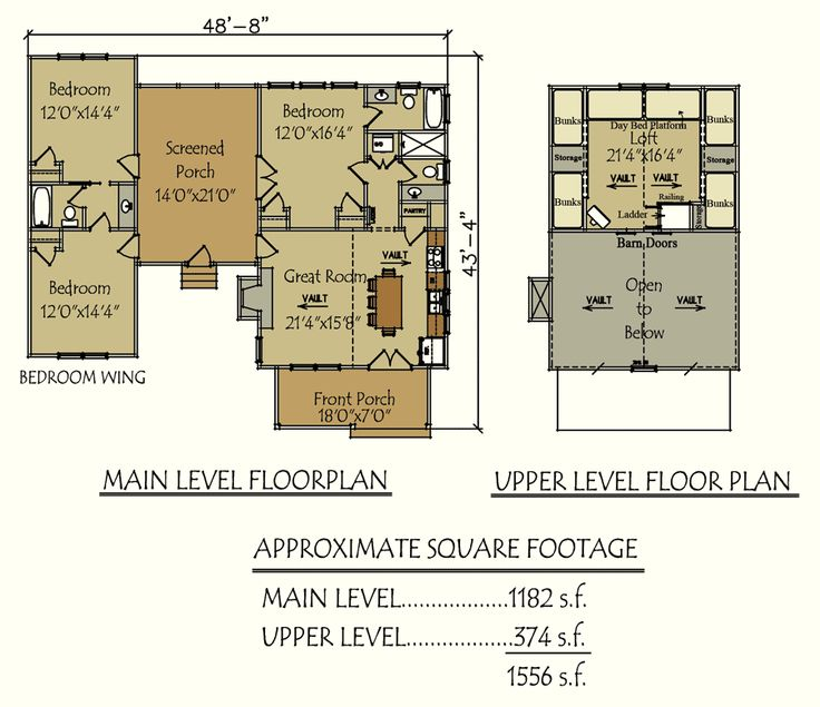 Dogtrot  E  Camp Creek Cabin Total Living Area Sq Ft Bedrooms