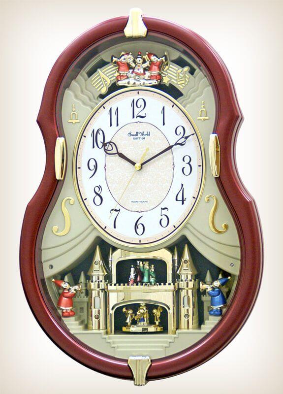 Viola Entertainer Ii Rhythm Clock 4mh829wd06 Wall Of Clocks Rhythm Clocks Clock Led Wall Clock