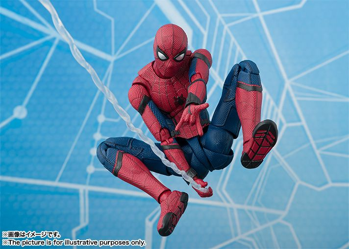 SH Figuarts has revealed their first Spider-Man: Homecoming figure. Spider-Man comes with all of the accessories you need to recreate your favorite scenes.