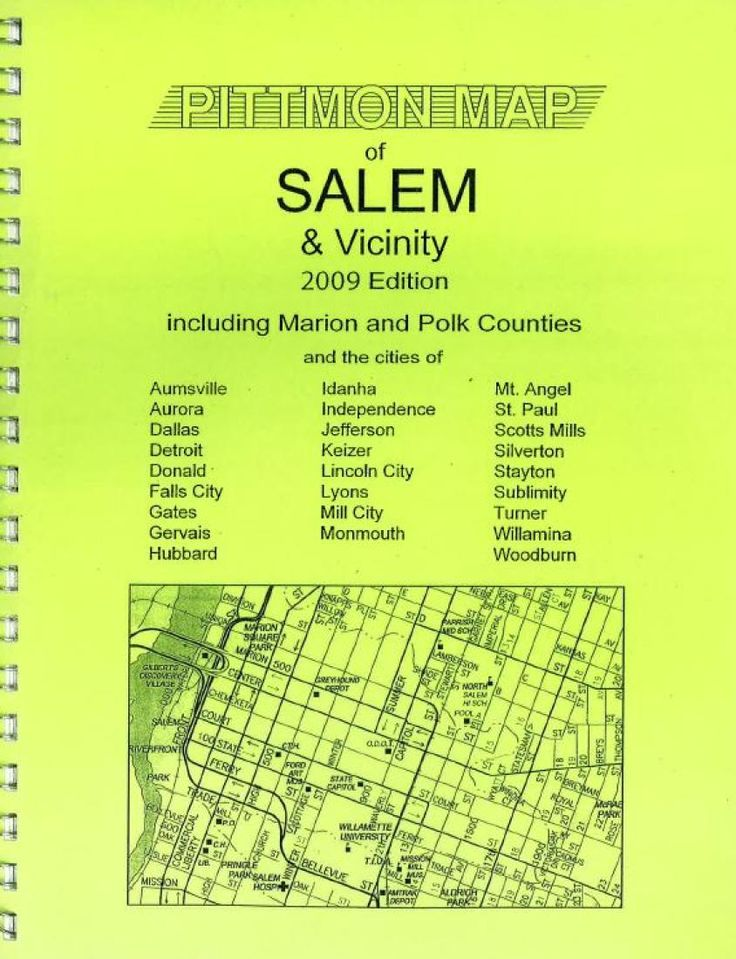 Salem and Marion County, Oregon Atlas by Pittmon Map Company
