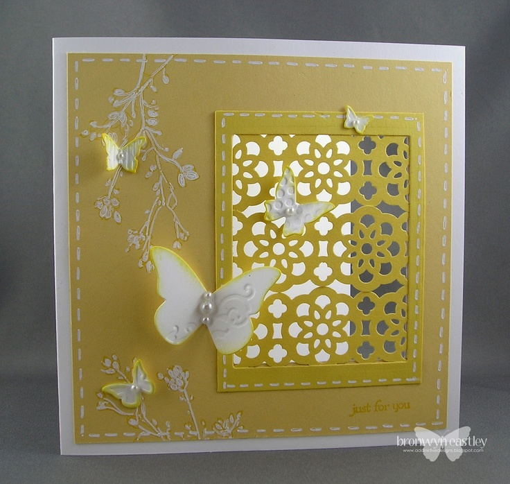 Card Making Ideas With Ribbon Part - 21: AddINKtive Designs: JAI 117 - Lacy Lattice Using Lace Ribbon Punch