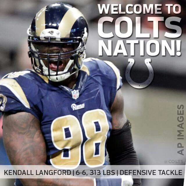 Welcome Kendall Langford ! #ColtsNation