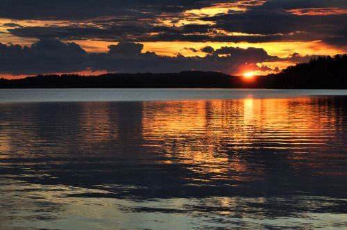 travelingcolors    Midnight sun in Kuopio | Finland (by Capannelle)   #finland#midnight sun