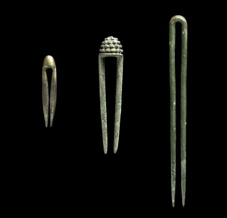 Hairpins      은제동곳, 銀製동곳      Korean, Goryeo dynasty, 12th-13th century