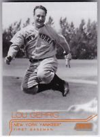 Lou Gehrig 2015 Topps Stadium Club Black and White with Orange #186 Yankees