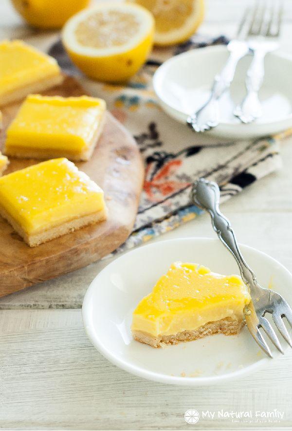 Lemon Bars Recipe (Paleo, Clean Eating, Gluten Free, Dairy Free)