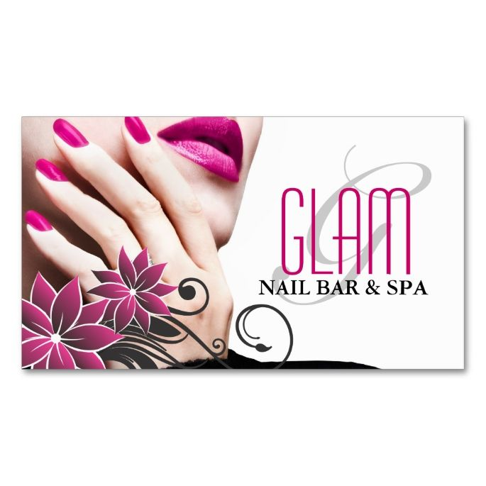 12 best nail technician flyers images on pinterest nail for Nail salon business card