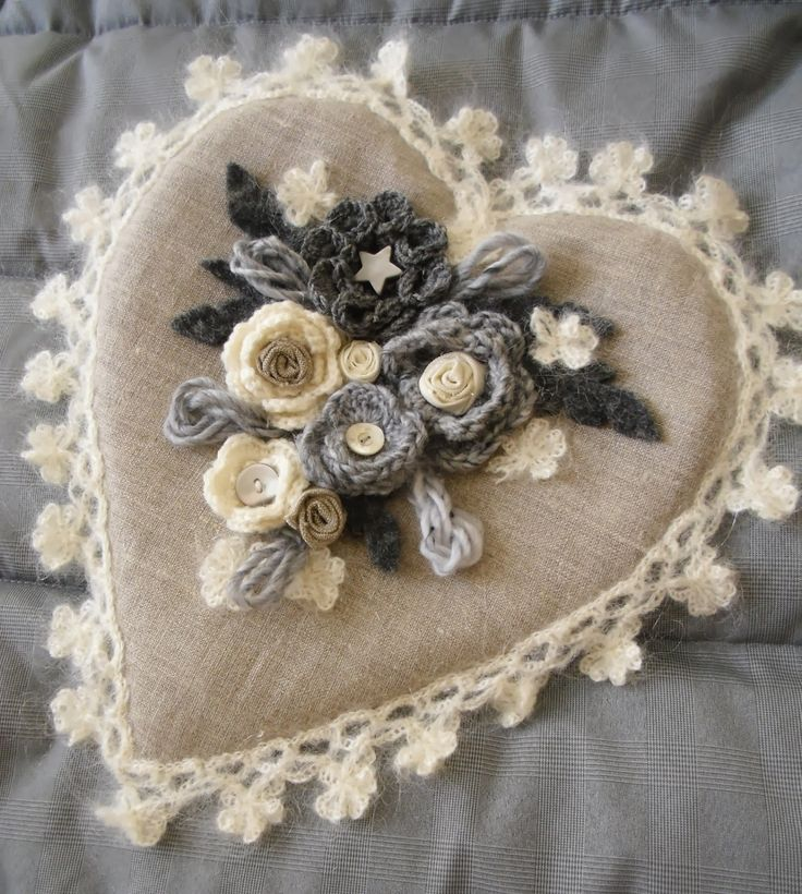 La Comtesse & Le Point De Croix: Lino e Lana per un cuore d'inverno