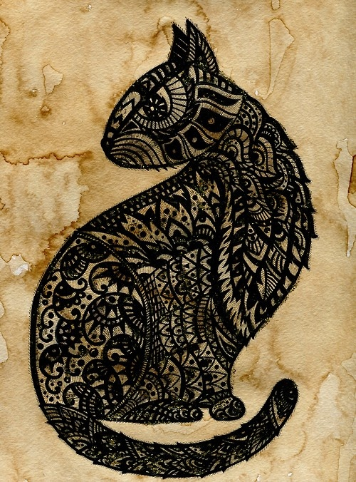124 Best Images About Zentangle Cats Amp Dogs On Pinterest