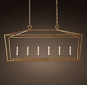 Dining? Gold to contrast windows? 19Th C. English Openwork Lantern | Restoration Hardware